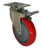 Stainless Swivel Caster with Total Locking Brake - Model 3A -- SS-3ARG5-SML