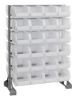 Bins & Systems - Clear-View Bins - Ultra Stack and Hang - Steel Rail Packages - QRU-12D-240-48CL - Image