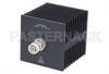 Medium Power 50 Watts RF Load Up To 18 GHz With TNC Male Input Square Body Black Anodized Aluminum Heatsink -- PE6215 -Image