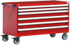 Heavy-Duty Mobile Cabinet, with Partitions -- R5BKE-3007 -Image
