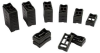 PANDUIT - SACS50-T100 - STACKABLE TELCO CABLE SPACERS, POLYPROPYLENE, BLK -- 733228