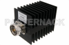 Medium Power 50 Watts RF Load Up To 4 GHz With 7/16 DIN Male Input Square Body Black Anodized Aluminum Heatsink -- PE6169 -Image