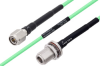 Temperature Conditioned TNC Male to N Female Bulkhead Low Loss Cable 36 Inch Length Using PE-P142LL Coax -- PE3M0163-36 -Image