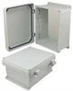10x8x5 Inch UL® Listed Weatherproof NEMA 4X Enclosure, Non-Metal Mounting Plate, Non-Metallic Hinges -- NBN100805-KIT01 -Image