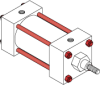 Series MN Aluminum Pneumatic Cylinder - Model MN11 NFPA Style MX -- No Tie-Rod Extension-Image
