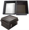 "14x12x7"" UL® Listed Black Weatherproof Windowed NEMA Enclosure Only -- NBBW141207 -- View Larger Image"