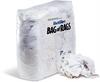 WorkWipes Reclaimed White Sweatshirt in Bag Reclaimed Rags, Sweatshirt, Bag - Compressed Shop Towels & Rags WIP553 -- WIP553 -Image