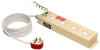UK BS-1363 Medical-Grade Power Strip with 4 UK Outlets, 3m Cord -- PS410HGUK