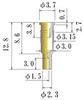 Medium Size Socket Pin -- JS50-GG -Image
