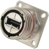 connector,metal circular,square flange receptacle,pcb,usb 2.0 type a,nickel fin -- 70026514