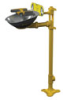 S19214Y - Bradley HALO Eye/Face wash, Pedestal mount, Stainless steel -- GO-86001-31 -- View Larger Image