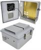 14x12x06 Polycarb Weatherproof NEMA 3R Enclosure, 120VAC Mnt Plate Mechanical Thermostat Fan Drk Gry -- NBPC141206-10F -Image