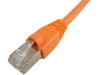 1' Cat6A Shielded Patch Cable, Orange -- 603937
