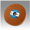 3M Scotch-Brite CM-WL Convolute Aluminum Oxide Medium Deburring Wheel - Coarse Grade - Arbor Attachment - 8 in Diameter - 3 in Center Hole - Thickness 2 in - 93459 -- 048011-93459 - Image