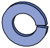 Spring Lock Washer - Non Metric -- HLKW062 EG - Image