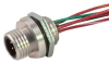 "Dual Key Micro-Link Receptacle, Male, 6 pole, 1', 1/4"" NPT -- 206R0010P"