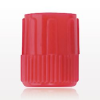 Non-Vented Male Luer Lock Cap with Recessed Male Stem, Red -- 65309 -Image