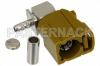 FAKRA Jack Right Angle Connector Crimp/Solder Attachment for RG174, RG316, RG188, .100 inch, PE-B100, PE-C100, LMR-100, Curry Color -- PE44648K -Image