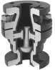 Resistoflex Vertical Check Valves