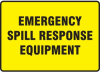 Emergency Spill Response Equipment Sign -- SGN569