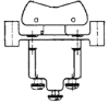 TP Series Rocker Switch, 1 pole, 2 position, Screw terminal, Flush Panel Mounting -- 1TP12-3 - Image