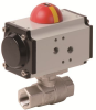 Pneumatically Actuated Stainless Steel Ball Valve -- PHS - AP Series -- View Larger Image