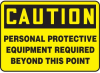Caution Personal Protective Equipment Beyond This Point Sign -- SGN571