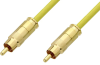 75 Ohm RCA Male to 75 Ohm RCA Male Cable 12 Inch Length Using 75 Ohm PE-B159-YW Yellow Coax -- PE38133/YW-12 -Image