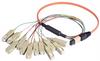 MPO Male to 12x SC Fan-out, 12 Fiber Ribbon, OM1 62.5/125 Multimode, OFNR Jacket, Orange, 1.0m -- MTPM12-SC-01 - Image