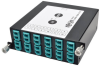 100Gb/120Gb to10Gb Breakout Cassette, 24-Fiber OM4 MTP/MPO ( Male with Pins ) to ( x12 ) LC Duplex -- N484-1M24-LC12