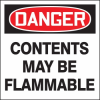 Danger Contents May Be Flammable Drum ID Label -- SGN645 - Image