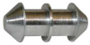 Round Belt Connector,Dia. 1/4 In,PK 25 -- 15V477