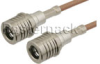 QMA Male to QMA Male Cable 72 Inch Length Using RG316-DS Coax -- PE38161-72 -Image