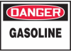 Danger Gasoline Hazard Warning Label -- SGN413