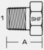 5406-P - MALE NPT HEX PIPE PLUG -- 5406-P-02 - Image