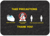 PIG Health & Social Distancing Floor Sign - Box of 4 -- GMM21003 -Image