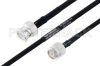 MIL-DTL-17 BNC Male to TNC Male Cable 48 Inch Length Using M17/84-RG223 Coax -- PE3M0035-48 -Image