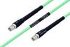 Temperature Conditioned SMA Male to SMA Male Low Loss Cable 18 Inch Length Using PE-P142LL Coax -- PE3M0125-18 -Image