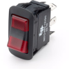 SPST On-On LED Rocker Switch, two red lenses -- 58312-RR4