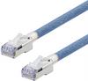 Category 5e Aerospace Ethernet Cable High-Temp SF/UTP FEP Blue RJ45, 3.0ft -- T5A00018-3F -Image
