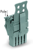 1-Conductor female plug; With strain relief plate and locking lever; for insertion into carrier terminal blocks; codable; 5-pole -- 2022-105/144-000