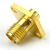 SMA Female Connector Solder/Non-Solder Contact Attachment 4 Hole Flange For RG402 Cable -- SC3533 -Image