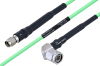 Temperature Conditioned SMA Male to TNC Male Right Angle Low Loss Cable 30 Inch Length Using PE-P160LL Coax -- PE3M0185-30 -Image