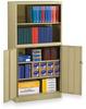 Bookcase Cabinet, Assembled, Beige -- 2TER2 - Image