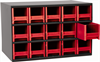 Cabinet, Steel Cabinet w/ 15 Drawers, Red -- 19715RED -Image