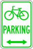 Parking Sign,18 x 12In,GRN/WHT,PRKG -- 3PLX5