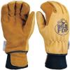 Firefighters Gloves,M,Elkhide Lthr,PR -- 9ATC9