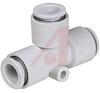 Fitting, 4 mm; 34 mm; 10.4 mm; 1.0 MPa (Max.); -5 degC; 60 degC; C3604BD, PBT, -- 70071026 - Image