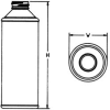 PET and HDPE Plastic Bottles -- CONE TOP ROUND-PETG-32 oz-203204-28-410