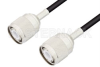 HN Male to HN Male Cable 72 Inch Length Using RG223 Coax, RoHS -- PE3357LF-72 -Image